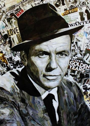 FRANK SINATRA - NEWS PAPERS - canvas print - self adhesive poster - photo print